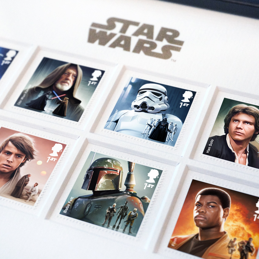 MALCOLM TWEEN; ROYAL MAIL; STAR WARS; STAMPS; starwars; force awakens; episode 7; episode 4; episode 5; malcolm; tween; digital; progression; luke; skywalker; mark hamill; luke skywalker; princess leia; liea; organa; r2d2; c3po; anthony daniels; carrie fisher; han solo; harrison ford; chewbacca; chewie; peter mayhew; Finn; Rey; BB8; john boyega; daisy ridley; ben kenobi; obi wan kenobi; alec guiness; yoda; kylo ren; captain phasma; stormtrooper; boba fett; fett; boba; jeremy bulloch; bossk; iG88; dengar