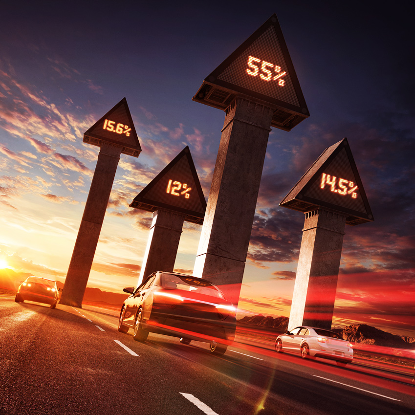 Innovation-Group-Digital-Progression-road-arrows-cars-sunset